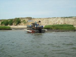 Amphibious Mount Drill Rig